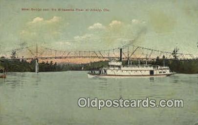Steel Bridge, Willamette River - Albany, Oregon OR Postcard