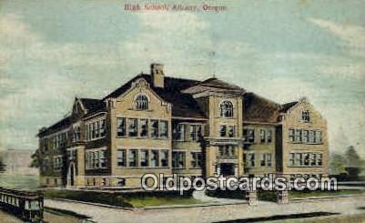 High School, Albany - Oregon OR Postcard