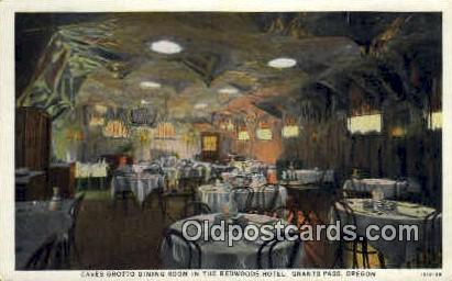 Caves Grotto, Redwoods Hotel - Grants Pass, Oregon OR Postcard