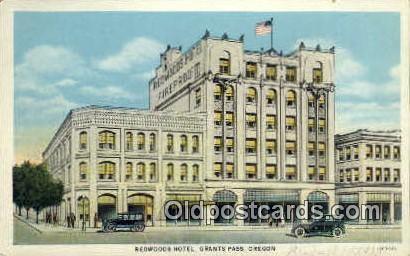 Redwoods Hotel - Grants Pass, Oregon OR Postcard