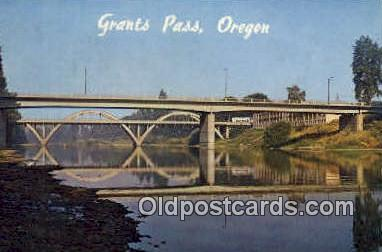 Caveman's Bridge - Grants Pass, Oregon OR Postcard