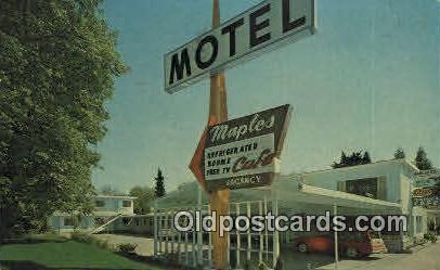 Maple Motel - Grants Pass, Oregon OR Postcard