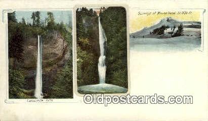 Multnomah Falls - Mt Hood, Oregon OR Postcard