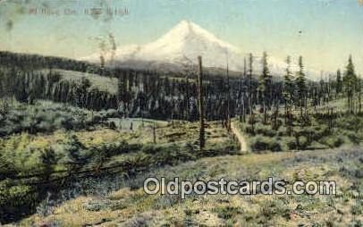 Mt Hood, OR  ;      :      Mt Hood, Oregon Postcard