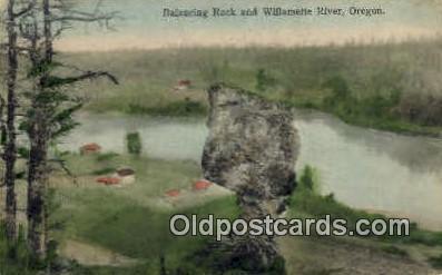 Balancing Rock - Willamette River, Oregon OR Postcard