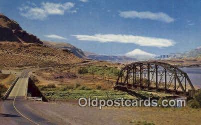 Columbia River Gorge - Mt Hood, Oregon OR Postcard