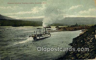 Steamer, Cascade Locks - Columbia River, Oregon OR Postcard