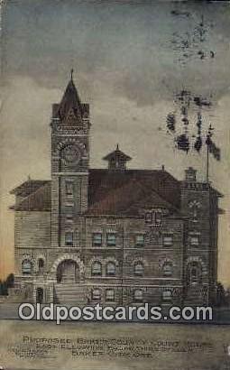 Proposed Baker County Court House - Baker City, Oregon OR Postcard