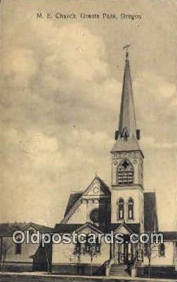 ME Church - Grants Pass, Oregon OR Postcard