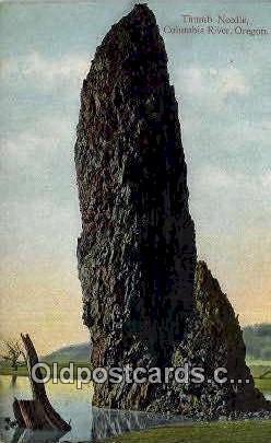 Thumb Needle - Columbia River, Oregon OR Postcard