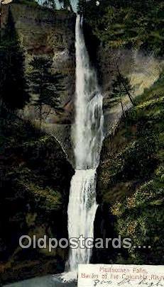 Multnomah Fall - Columbia River, Oregon OR Postcard