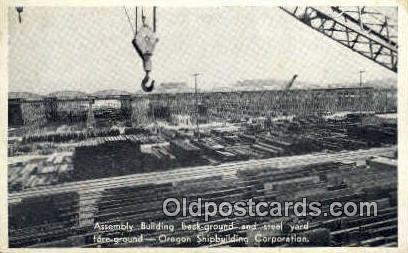 Steel Yard, Shipbuilding Corp - Misc, Oregon OR Postcard