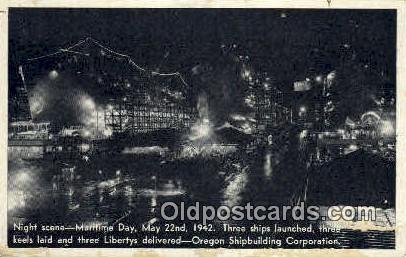Shipbuilding Corp, May 22, 1942 - Misc, Oregon OR Postcard