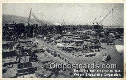 Oregon Shipbuilding Corp - Misc Postcard