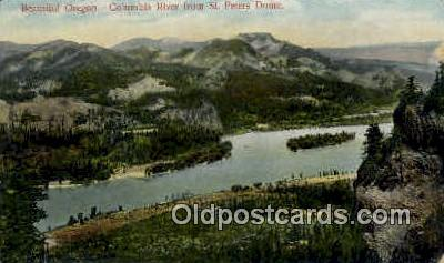 St Peters Dome - Columbia River, Oregon OR Postcard