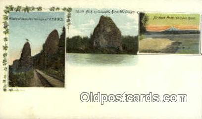 Castle Rock - Columbia River, Oregon OR Postcard
