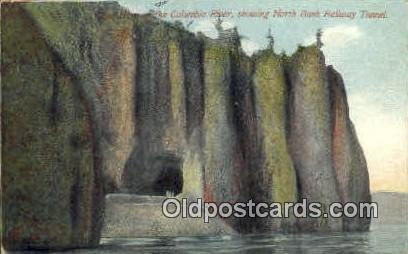 North Bank Railway Tunnel - Columbia River, Oregon OR Postcard