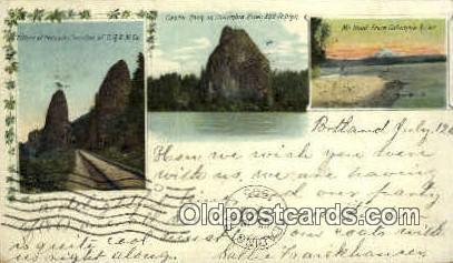Pillars of Hercules - Columbia River, Oregon OR Postcard