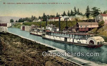 Cascade Locks - Columbia River, Oregon OR Postcard