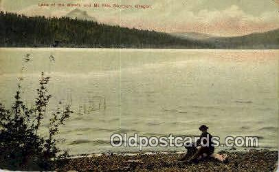Lake of the Woods - Mt Pitt, Oregon OR Postcard