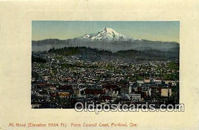 Council Crest, Mt Hood - Portland, Oregon OR Postcard
