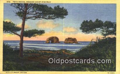 Twin Rocks - Oregon Coast Highway Postcards, Oregon OR Postcard