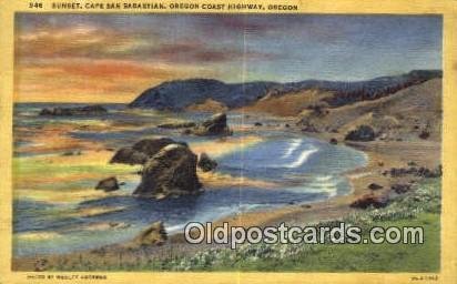Cape San Sabastian - Oregon Coast Highway Postcards, Oregon OR Postcard