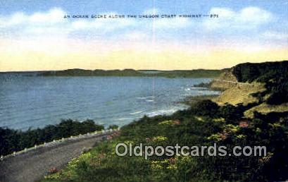 Oregon Coast Highway, OR  ;      :      Oregon Coast Highway, Oregon - Oregon Coast Highway Postcards Postcard