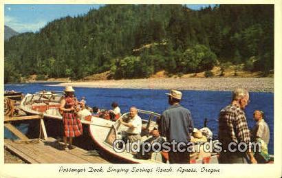 Passenger Dock, Singing Springs Ranch - Agness, Oregon OR Postcard