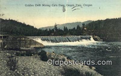 Golden Drift Mining Co's Dam - Grants Pass, Oregon OR Postcard