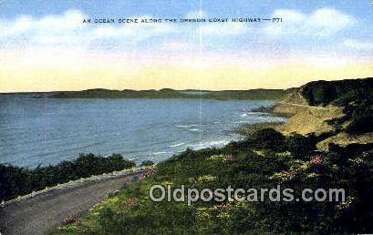 Oregon Coast Highway, Oregon ;      :             Oregon Coast Highway, OR - Oregon Coast Highway Postcards Postcard