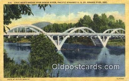 Can Man's Bridge, Rouge River - Grants Pass, Oregon OR Postcard