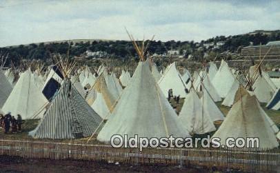 Indian Village - Pendleton, Oregon OR Postcard