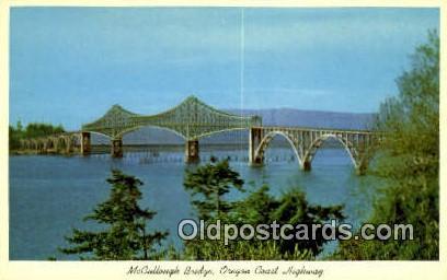 McCullough Bridge - Oregon Coast Highway Postcards, Oregon OR Postcard