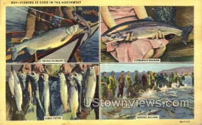 Fishing - Misc, Oregon OR Postcard