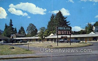 Porta Via Motel - Misc, Oregon OR Postcard