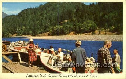 Springs Ranch - Agness, Oregon OR Postcard