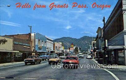 Grants Pass, OR, Oregon Postcard