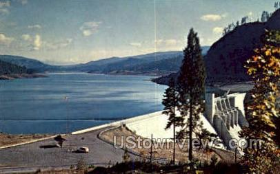 Lookout Point Dam - Willamette River, Oregon OR Postcard