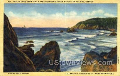 Indian Cove - Cannon Beach, Oregon OR Postcard