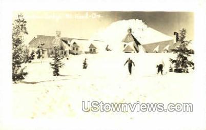 Real Photo - Timberline Lodge - Mt Hood, Oregon OR Postcard