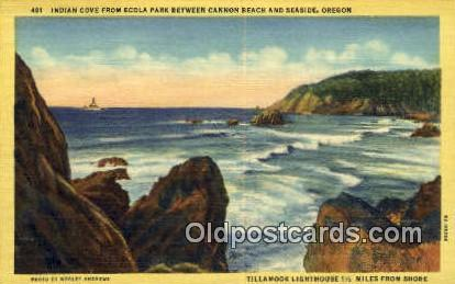 Indian Cove, Ecola Park - Seaside, Oregon OR Postcard