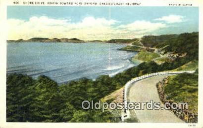 Shore Drive, Fort Orfoed - Oregon Coast Highway Postcards, Oregon OR Postcard