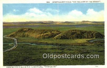 Independence River - Rawlins, Oregon OR Postcard