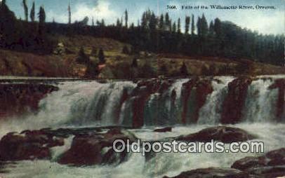 Falls - Willamette River, Oregon OR Postcard