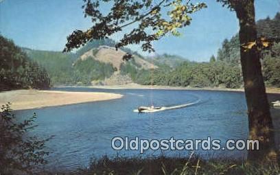 Mail Boat Trip - Agness, Oregon OR Postcard