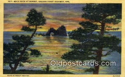 Mack Rock - Oregon Coast Highway Postcards, Oregon OR Postcard
