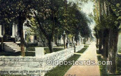 Residence Section - Baker City, Oregon OR Postcard