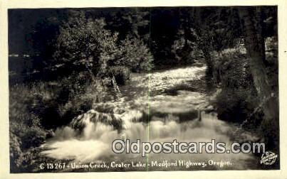 Real Photo - Union Creek, Medford Highway - Crater Lake, Oregon OR Postcard