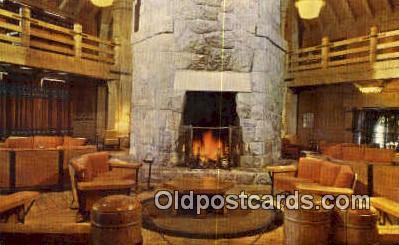 Lobby, Timberline Lodge - Mt Hood, Oregon OR Postcard